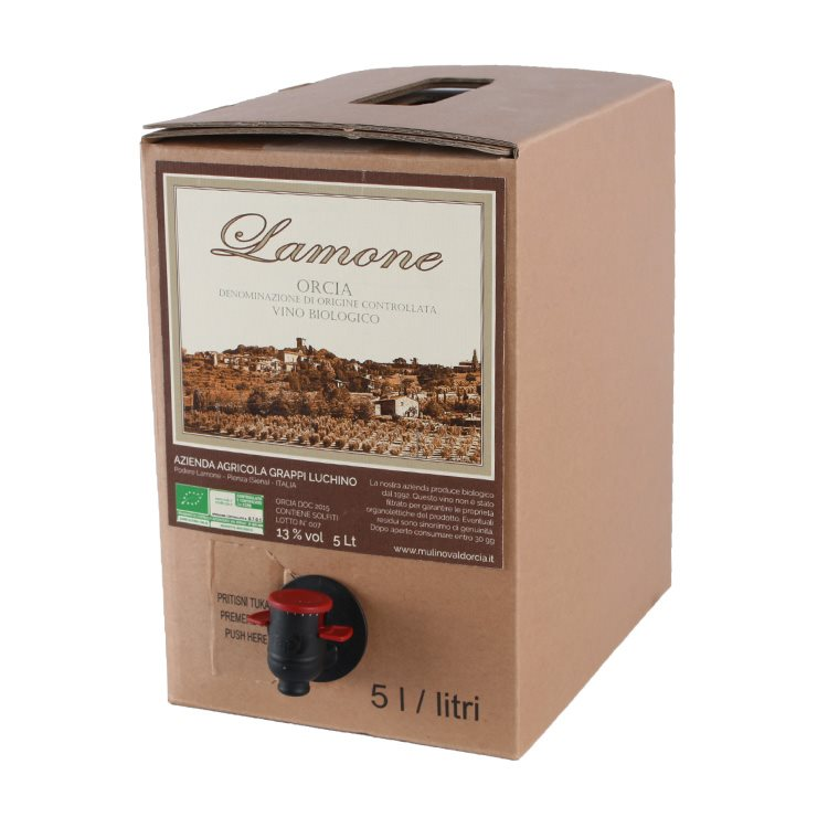 Lamone DOC Orcia - Bag in Box